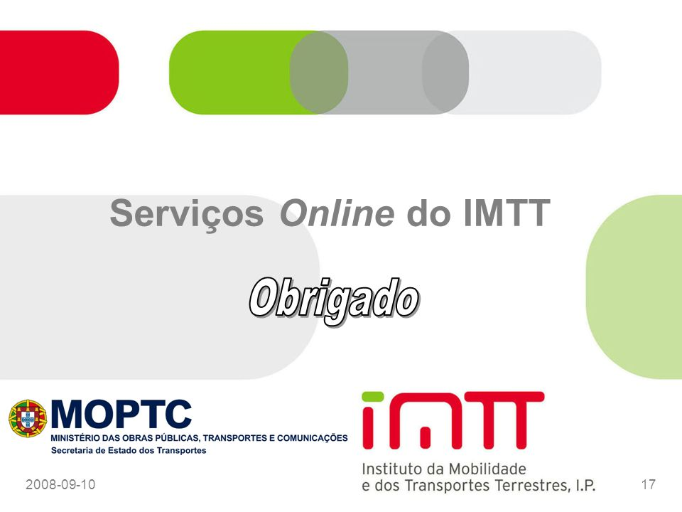 2008-09-1017 Serviços Online do IMTT