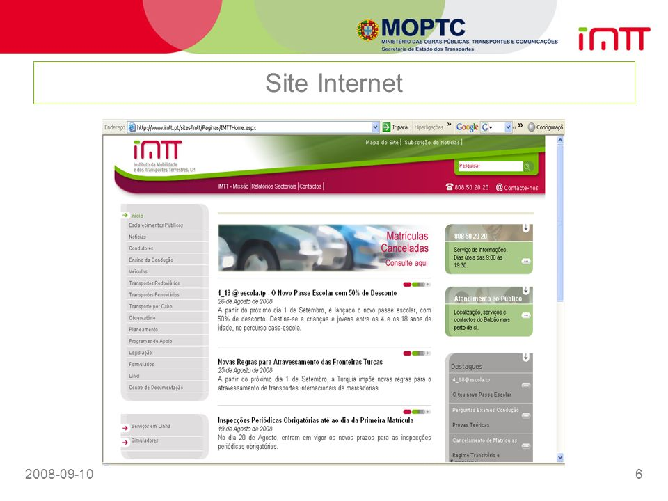 2008-09-106 Site Internet