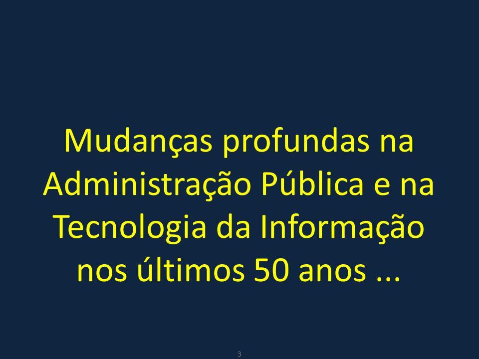 Mudanças profundas na Administração Pública e na Tecnologia da Informação nos últimos 50 anos... 3