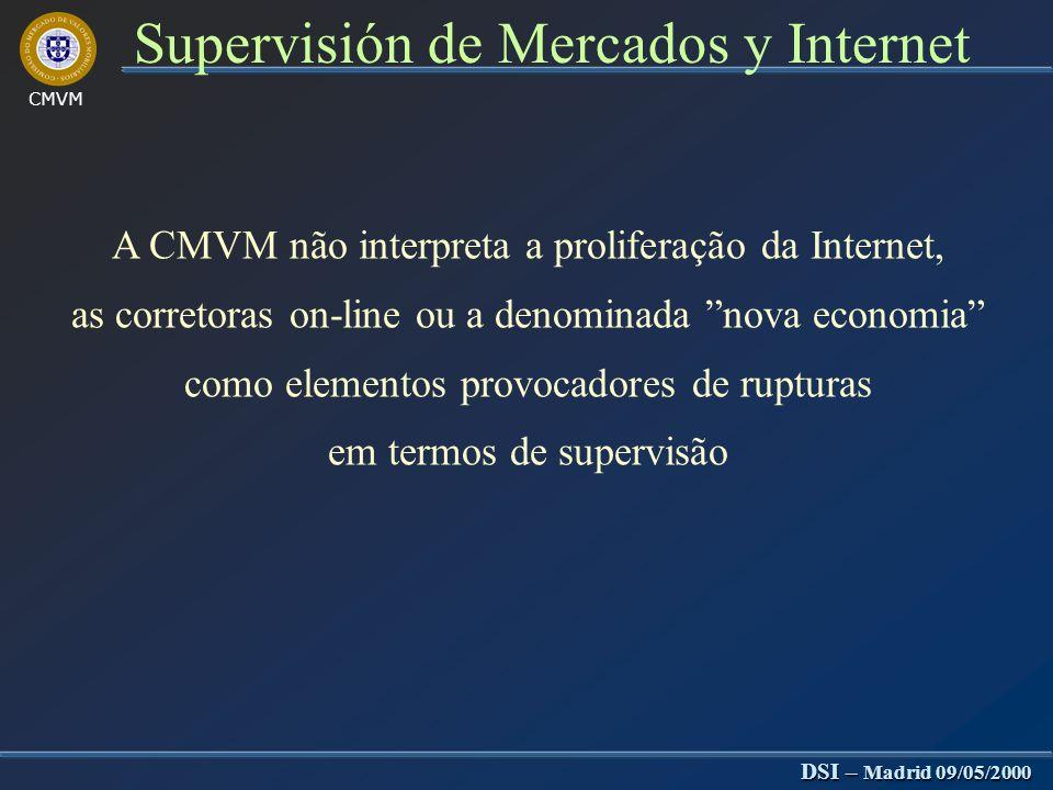 Jornadas sobre Tecnologia y Mercado de Valores Supervisión de Mercados y Internet