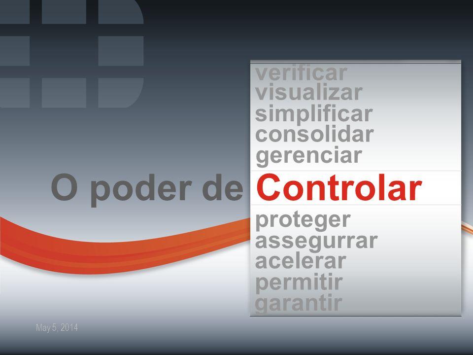 2 Fortinet Confidential May 5, 2014 ControlarO poder de verificar visualizar simplificar consolidar gerenciar proteger assegurrar acelerar permitir ga
