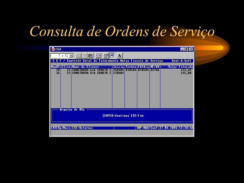 Consulta de Ordens de Serviço