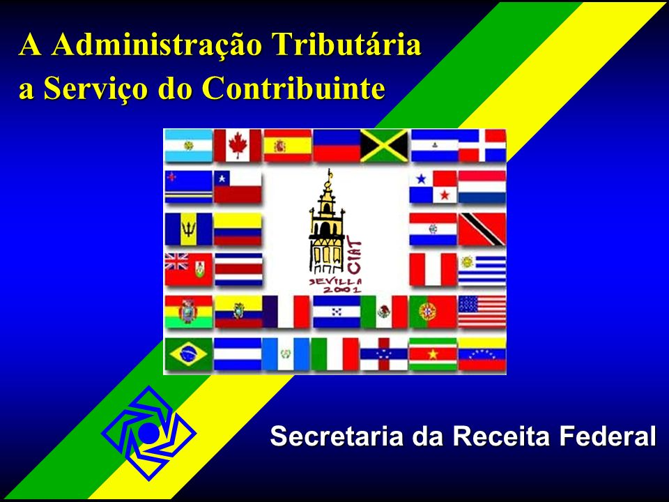 SRF2 A Administração Tributária a Serviço do Contribuinte Secretaria da Receita Federal Secretaria da Receita Federal SRF na Internet - Antecedentes SRF na Internet - Antecedentes Estratégia Estratégia Serviços Disponíveis Serviços Disponíveis Resultados Alcançados Resultados Alcançados Futuro - A SRF Virtual Futuro - A SRF Virtual