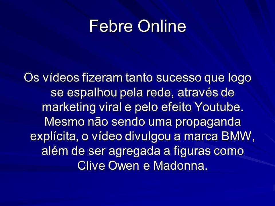 Febre Online Os vídeos fizeram tanto sucesso que logo se espalhou pela rede, através de marketing viral e pelo efeito Youtube. Mesmo não sendo uma pro