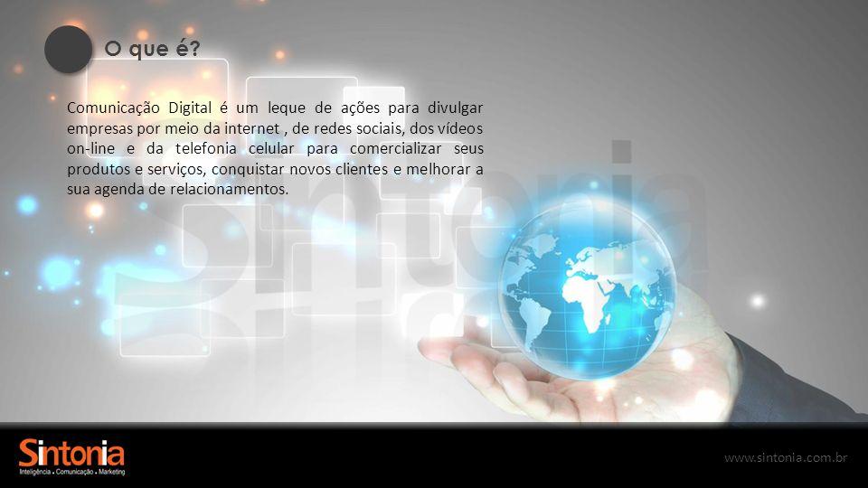 www.sintonia.com.br Desenvolvemos aplicativos de acordo com a necessidade de sua empresa.