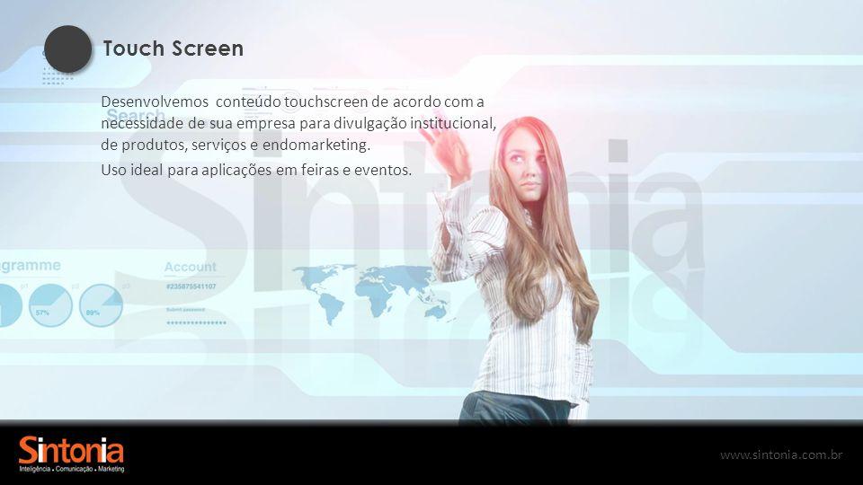 www.sintonia.com.br Publicações no Tablet Tenha as suas publicações disponíveis em tablets, facilitando o acesso dos clientes parceiros e colaboradores ao conteúdo.