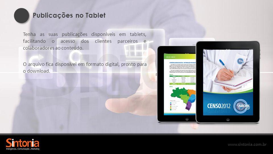 www.sintonia.com.br QR Code Esta eficiente ferramenta de comunicação é ótima para informar, transmitir e apresentar produtos e serviços.