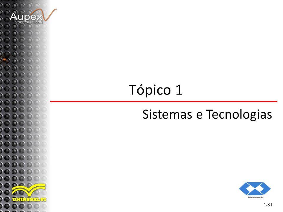 1/81 Tópico 1 Sistemas e Tecnologias