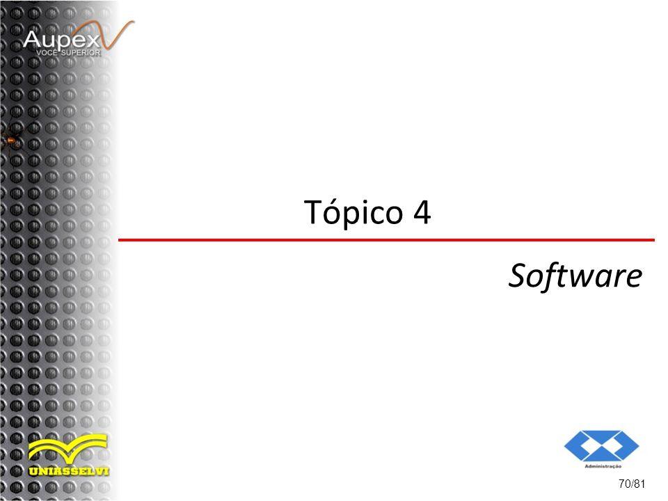 70/81 Tópico 4 Software