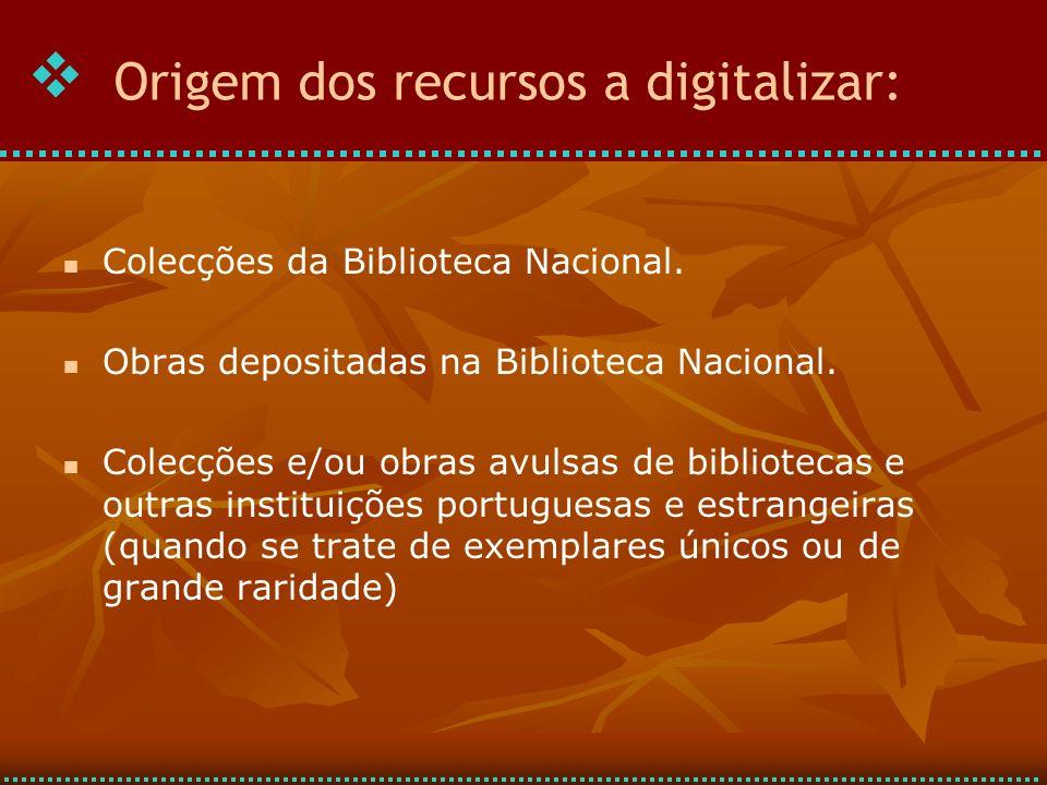 Colecções da Biblioteca Nacional.Obras depositadas na Biblioteca Nacional.