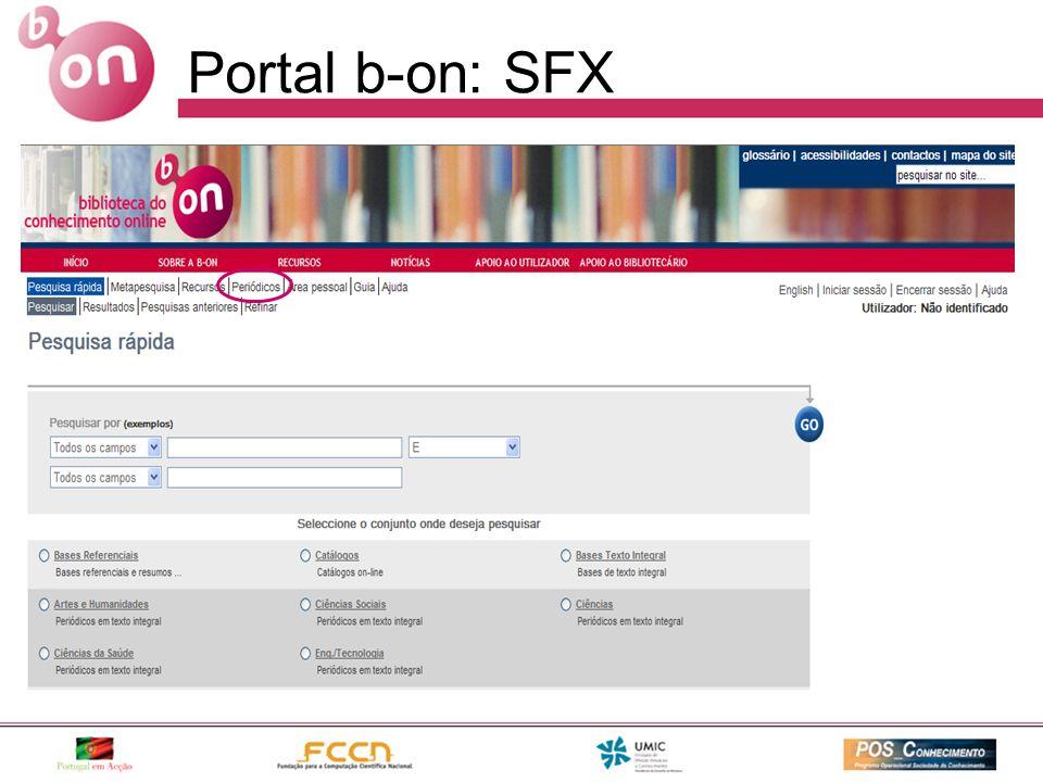 Portal b-on: SFX