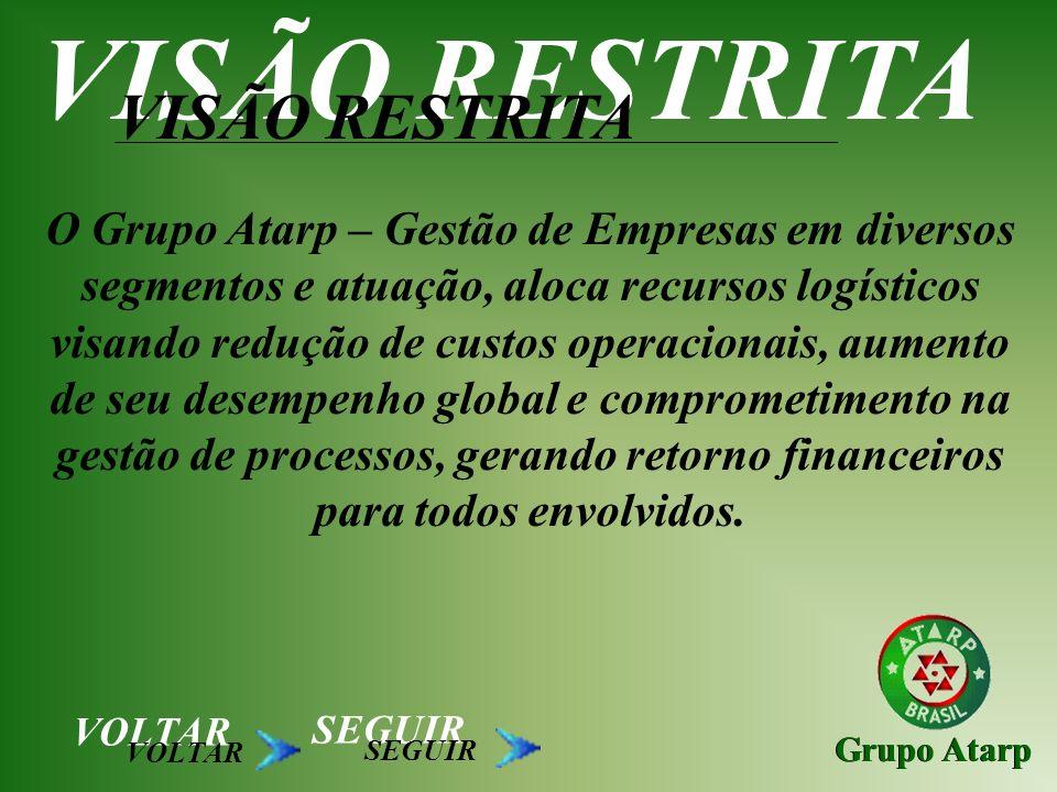 Grupo Atarp O Grupo Atarp – Gestão de Empresas em diversos segmentos e atuação, aloca recursos logísticos visando redução de custos operacionais, aume