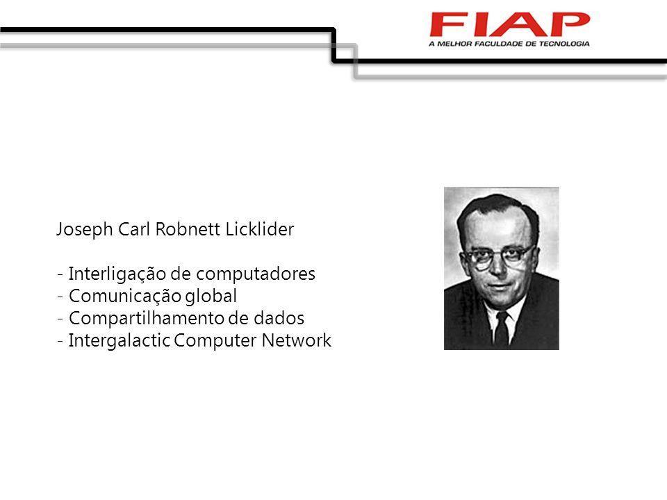 Joseph Carl Robnett Licklider - Interligação de computadores - Comunicação global - Compartilhamento de dados - Intergalactic Computer Network