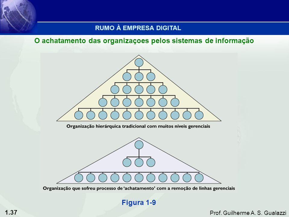 1.37 Prof. Guilherme A. S. Gualazzi Figura 1-9 O achatamento das organizaçoes pelos sistemas de informação RUMO À EMPRESA DIGITAL