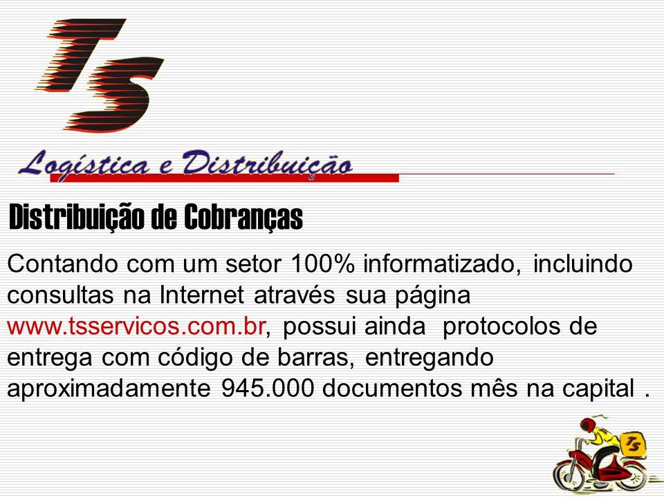 Contando com um setor 100% informatizado, incluindo consultas na Internet através sua página www.tsservicos.com.br, possui ainda protocolos de entrega com código de barras, entregando aproximadamente 945.000 documentos mês na capital.
