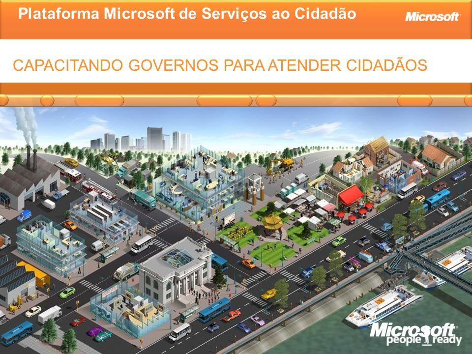 Plataforma Microsoft de Serviços ao Cidadão CAPACITANDO GOVERNOS PARA ATENDER CIDADÃOS