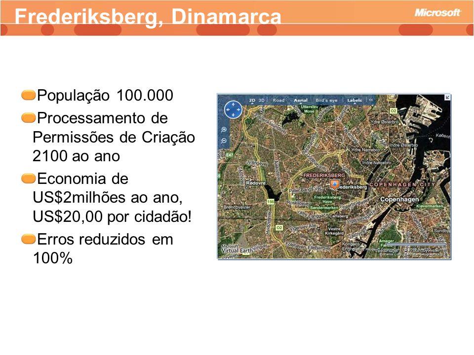 População 100.000 Processamento de Permissões de Criação 2100 ao ano Economia de US$2milhões ao ano, US$20,00 por cidadão! Erros reduzidos em 100% Fre