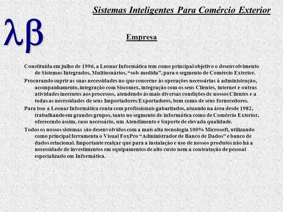 Empresa Constituída em julho de 1996, a Leonar Informática tem como principal objetivo o desenvolvimento de Sistemas Integrados, Multiusuários, sob-me