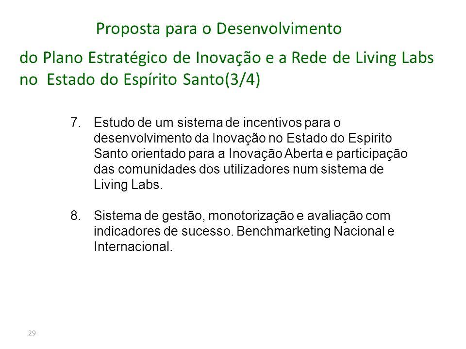 29 7.Estudo de um sistema de incentivos para o desenvolvimento da Inovação no Estado do Espirito Santo orientado para a Inovação Aberta e participação