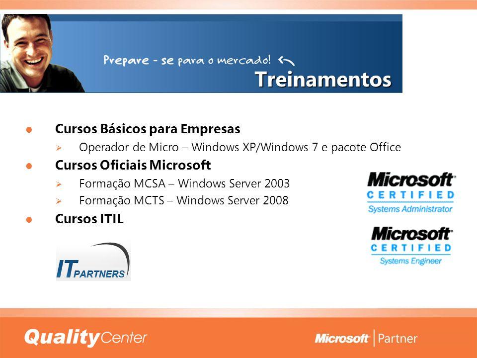 Treinamentos Cursos Básicos para Empresas Cursos Básicos para Empresas Operador de Micro – Windows XP/Windows 7 e pacote Office Operador de Micro – Wi