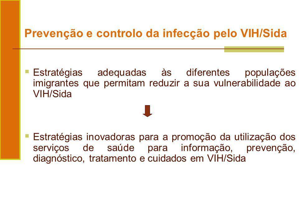 Prevenção e controlo da infecção pelo VIH/Sida Estratégias adequadas às diferentes populações imigrantes que permitam reduzir a sua vulnerabilidade ao
