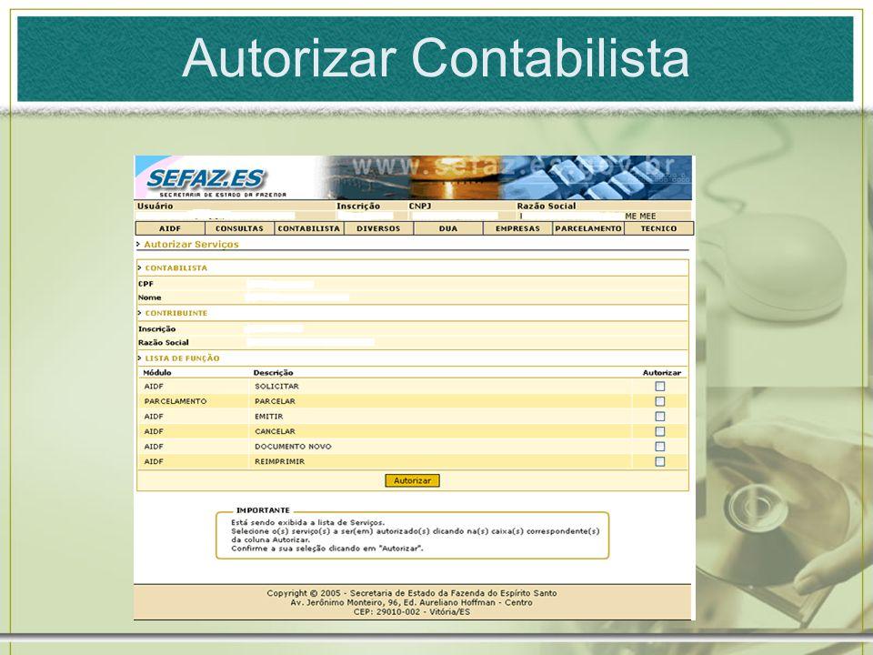Autorizar Contabilista
