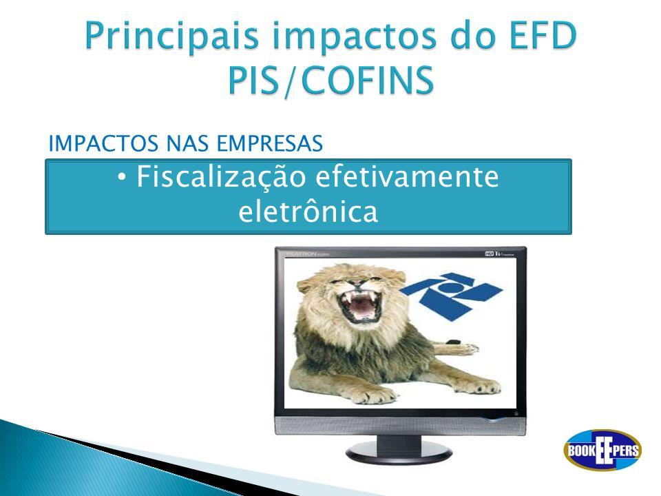 IMPACTOS NAS EMPRESAS Fiscalização efetivamente eletrônica