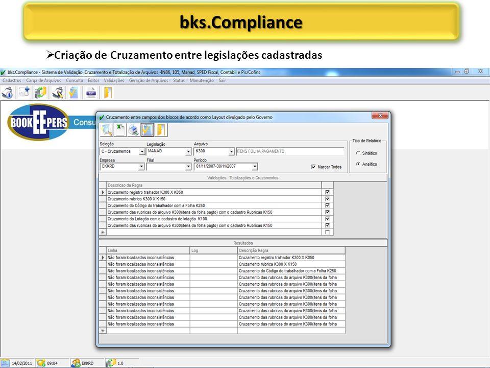 bks.Compliancebks.Compliance Criação de Cruzamento entre legislações cadastradas