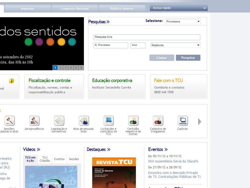 TCU na Internet http://www.tcu.gov.br