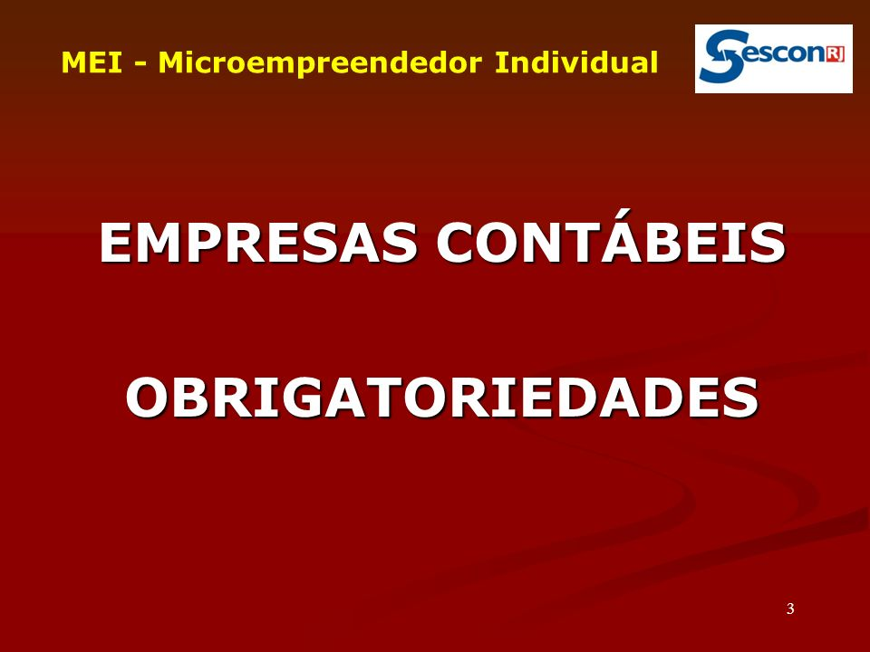 14 MEI - Microempreendedor Individual permitidas 7.