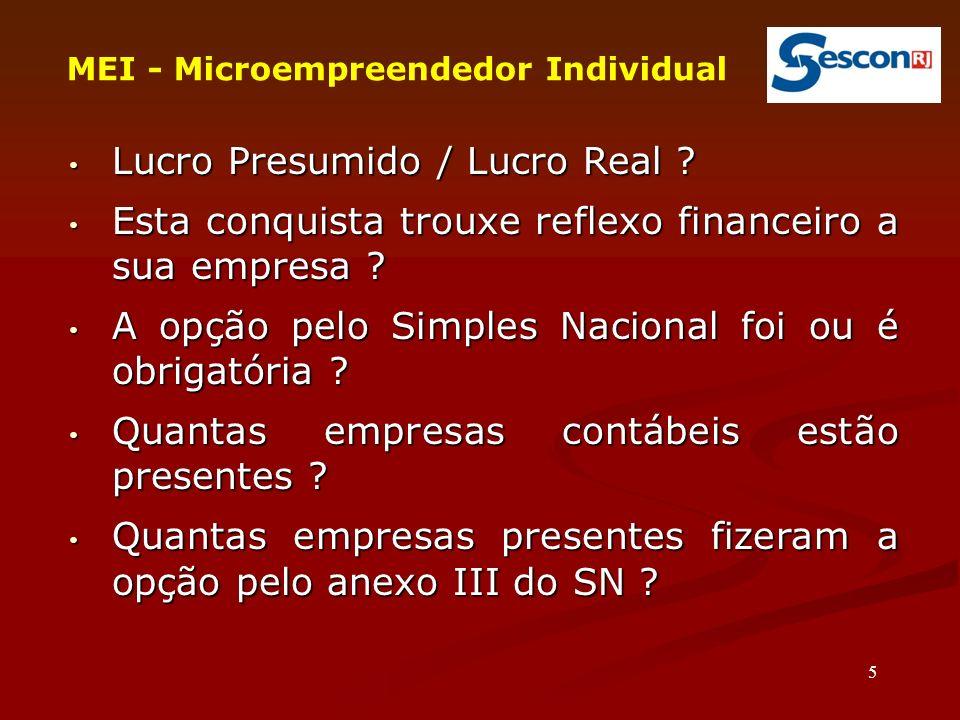 36 MEI - Microempreendedor Individual Pagamento/Recolhimento