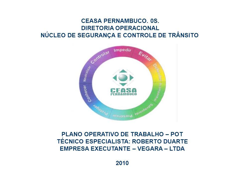 CEASA PERNAMBUCO. 0S. DIRETORIA OPERACIONAL NÚCLEO DE SEGURANÇA E CONTROLE DE TRÂNSITO PLANO OPERATIVO DE TRABALHO – POT TÉCNICO ESPECIALISTA: ROBERTO