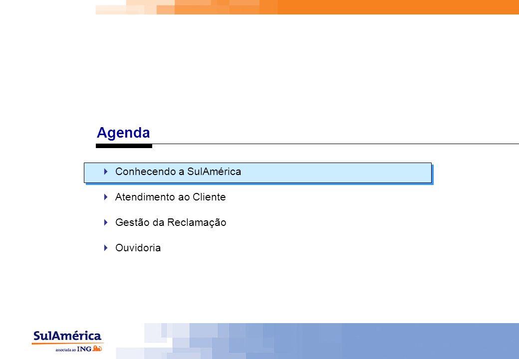 Agenda Conhecendo a SulAmérica Atendimento ao Cliente Gestão da Reclamação Ouvidoria