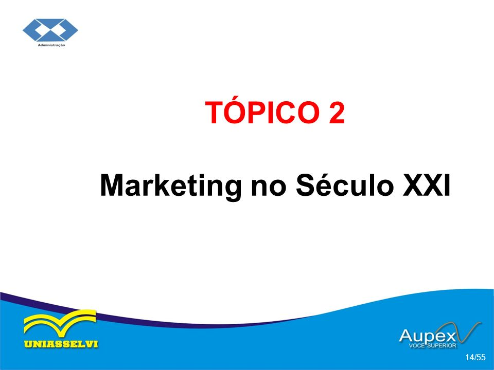 TÓPICO 2 Marketing no Século XXI 14/55