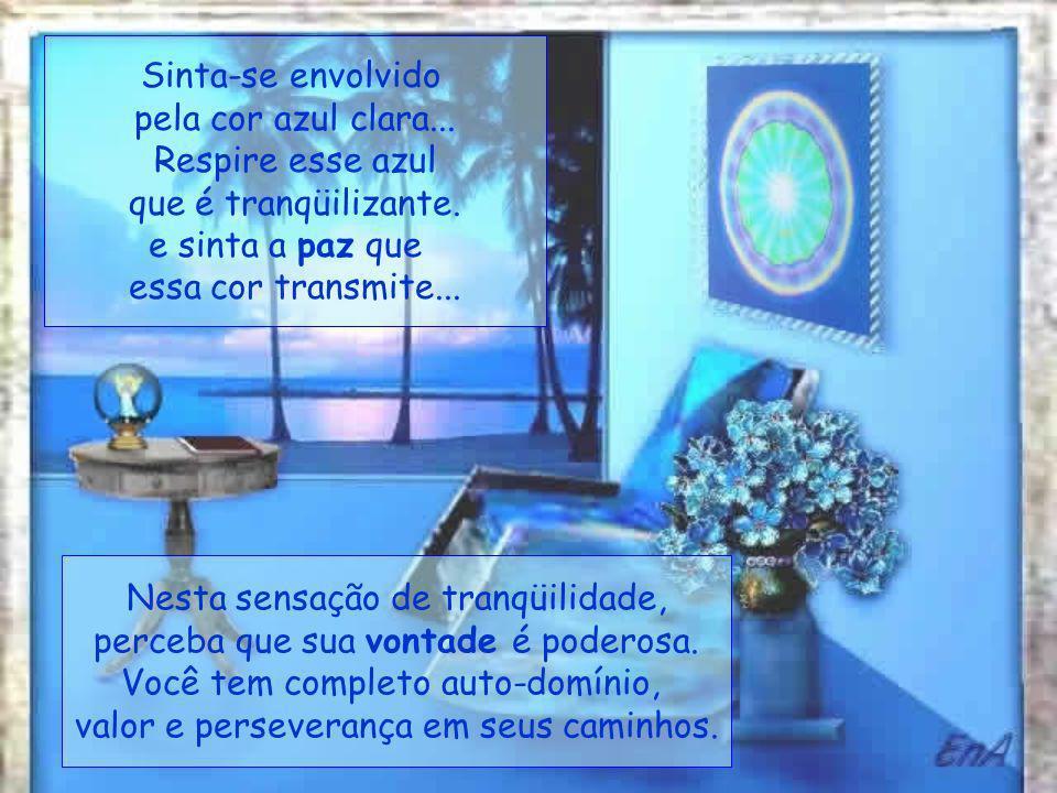Sinta-se envolvido pela cor azul clara...Respire esse azul que é tranqüilizante.