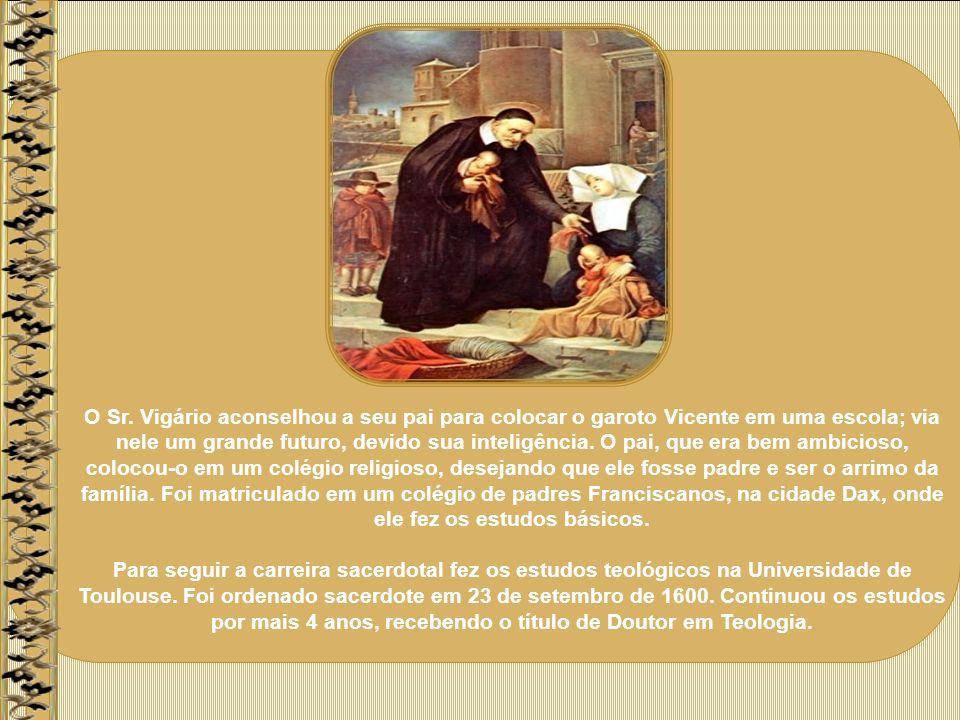 Padre Vicente tinha quase 80 anos quando faleceu, dia 27 de setembro de 1660.