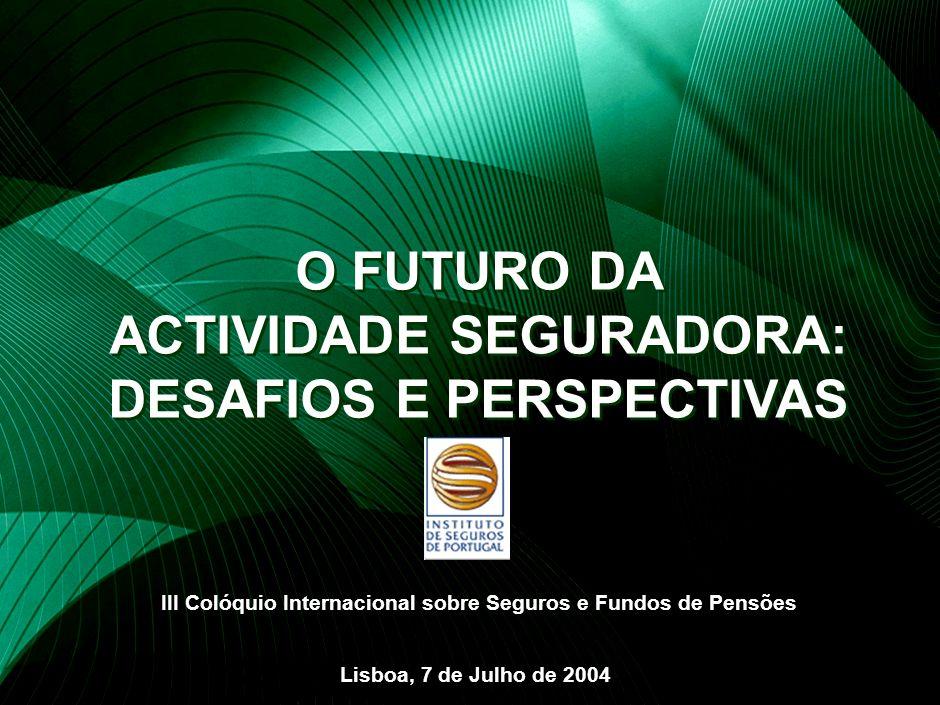 1 O FUTURO DA ACTIVIDADE SEGURADORA Estrutura da Apresentação Resultados do Sector nos últimos anos Pressões sobre o Sector Segurador Especificidades do Sector em Portugal Perspectivas Futuras
