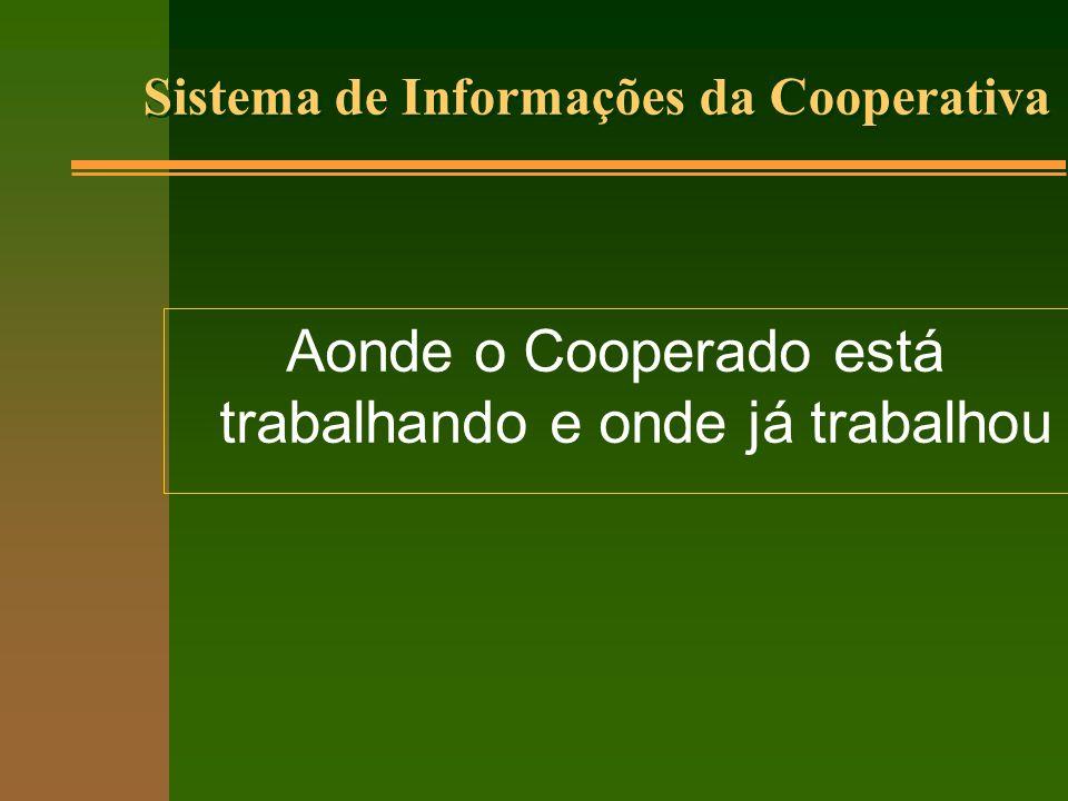Sistema de Informações da Cooperativa Aonde o Cooperado está trabalhando e onde já trabalhou