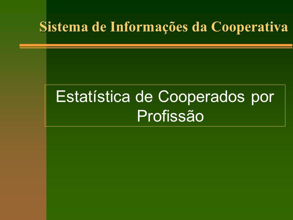 Sistema de Informações da Cooperativa Estatística de Cooperados por Profissão
