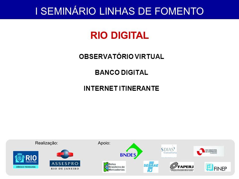 I SEMINÁRIO LINHAS DE FOMENTO FORMAÇÃO INICIAL E CONTINUADA – PROTÉCNICO Projeto Poupa Tempo Projeto PROEJA-FIC Projeto FORSOFT 2