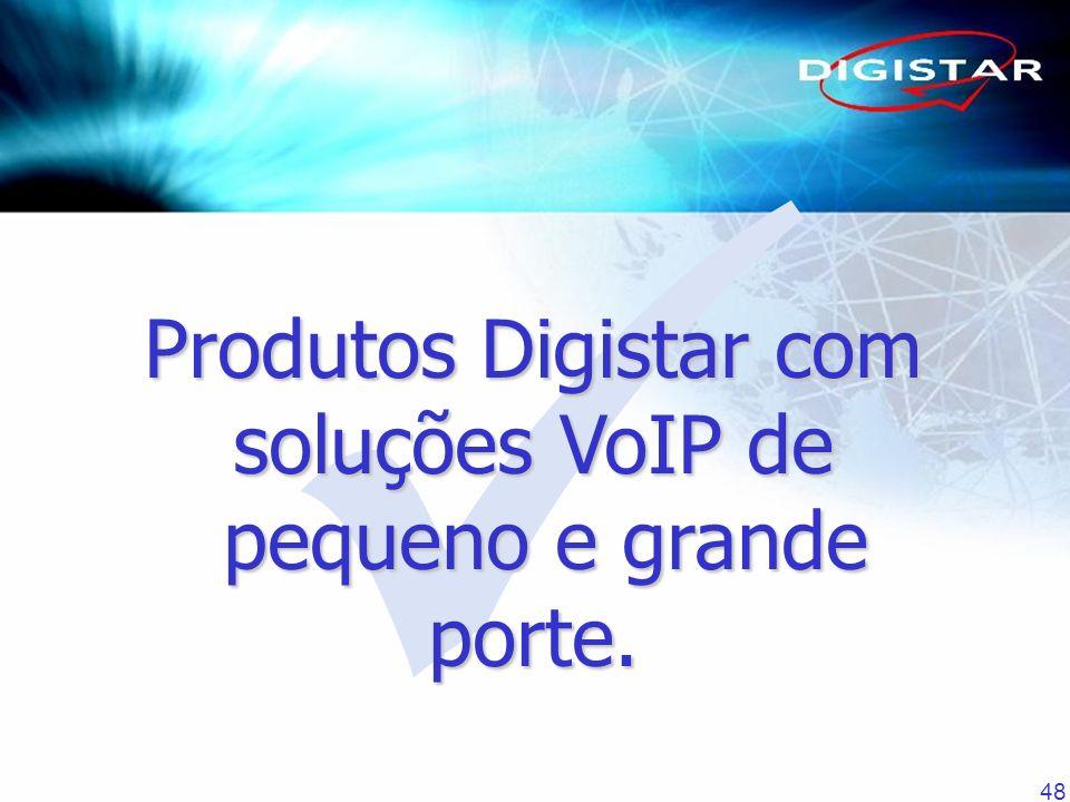 48 Produtos Digistar com soluções VoIP de pequeno e grande porte.