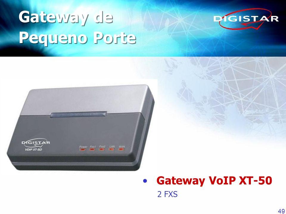 49 Gateway de Pequeno Porte Gateway de Pequeno Porte Gateway VoIP XT-50 2 FXS
