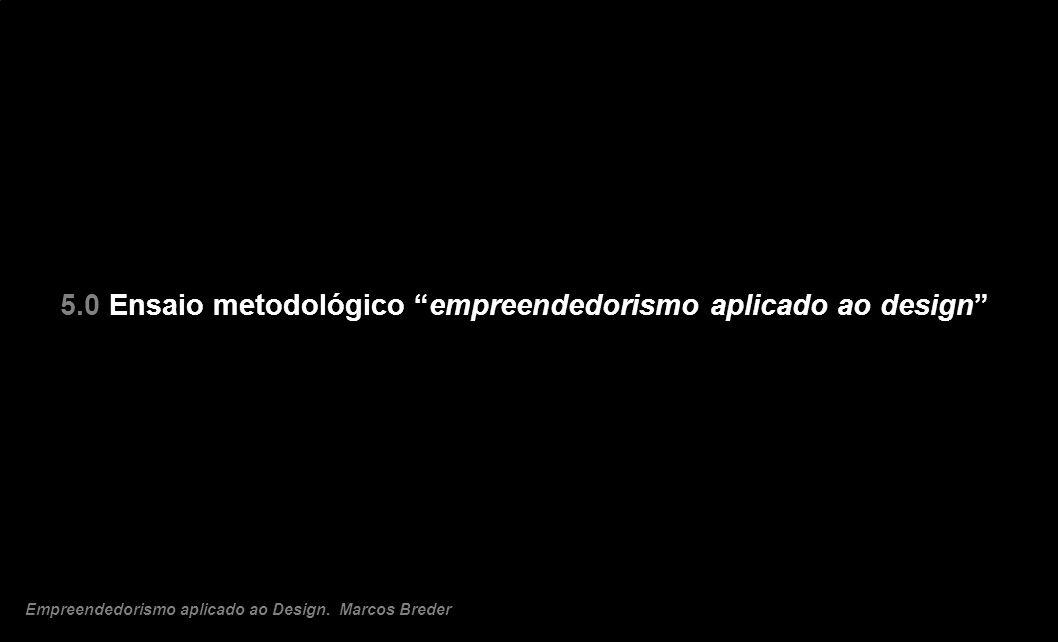 5.0 Ensaio metodológico empreendedorismo aplicado ao design Empreendedorismo aplicado ao Design. Marcos Breder