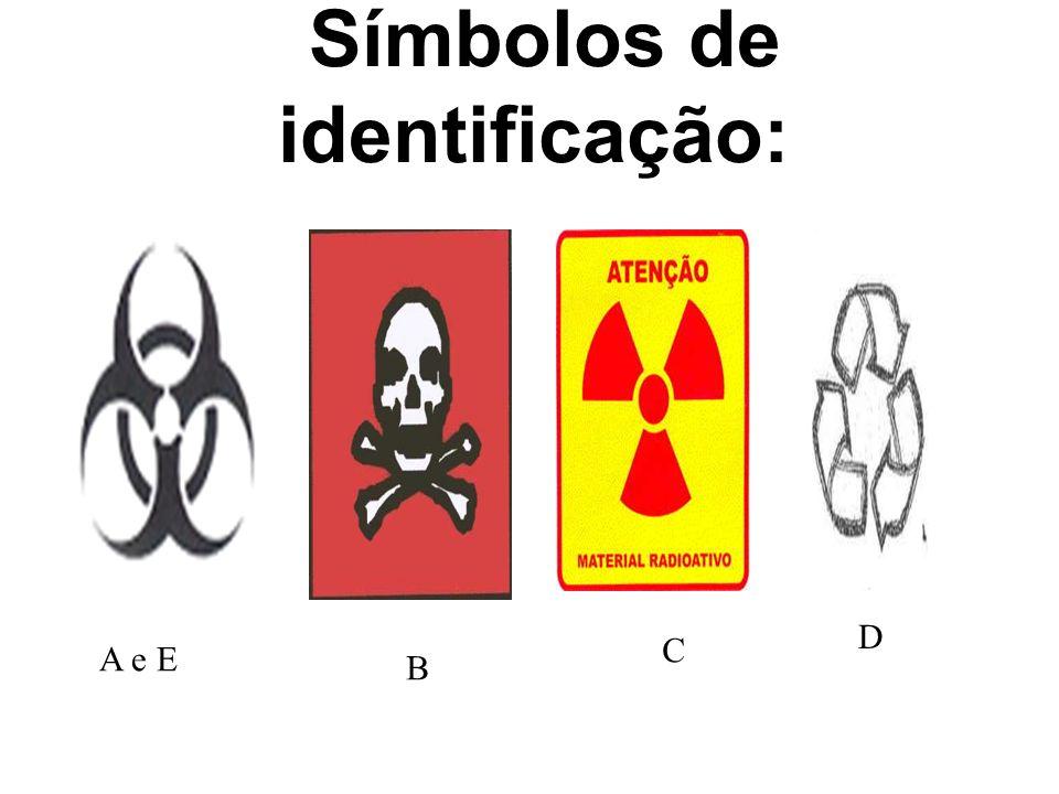 Símbolos de identificação: C D A e E B