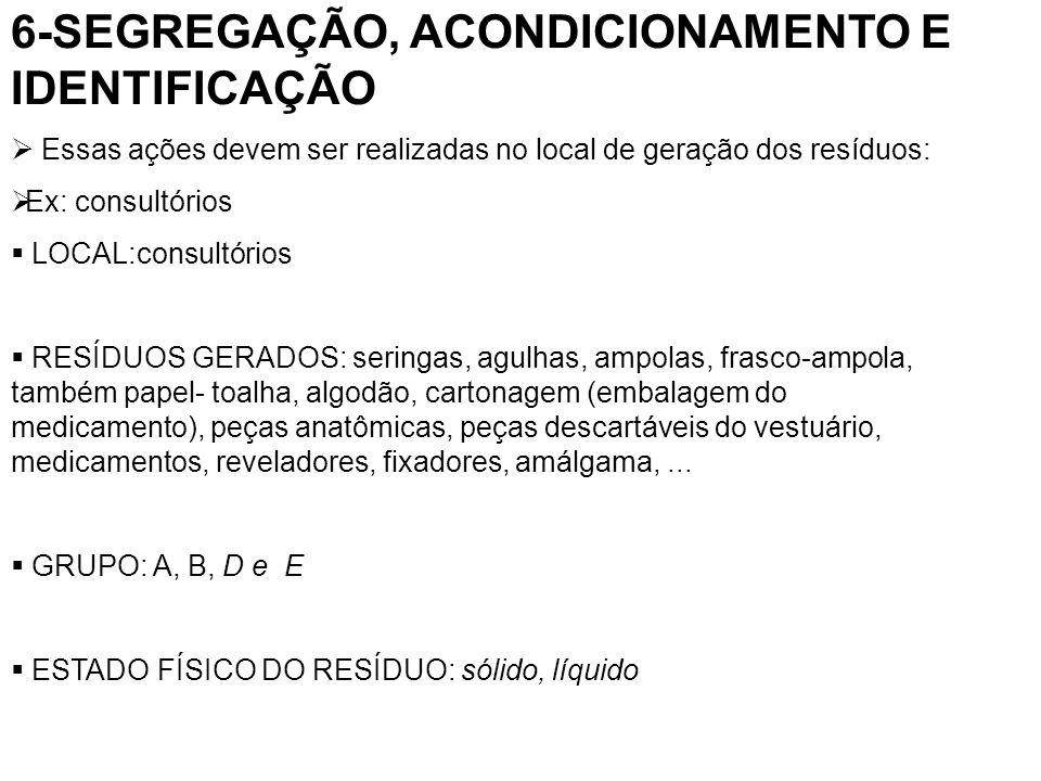 15-PESSOAL DIRETAMENTE RELACIONADO COM O MANEJO DOS RESÍDUOS ATIVIDADE: coleta interna, transporte interno (relacionar os cargos) Nº DE FUNCIONÁRIOS=