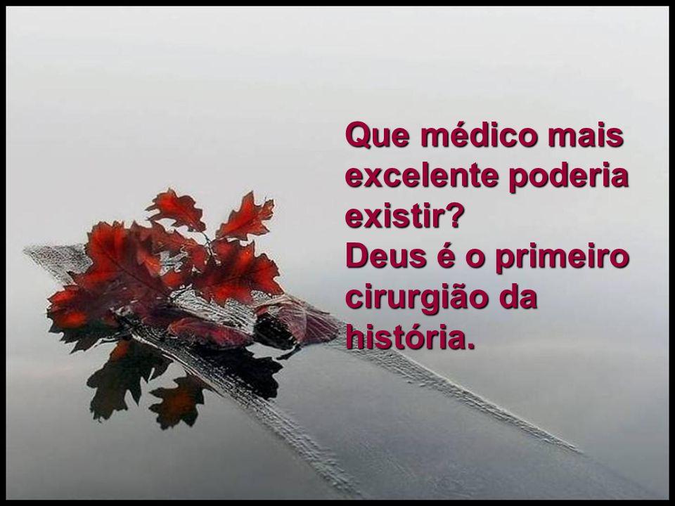 Que médico mais excelente poderia existir? Deus é o primeiro cirurgião da história.