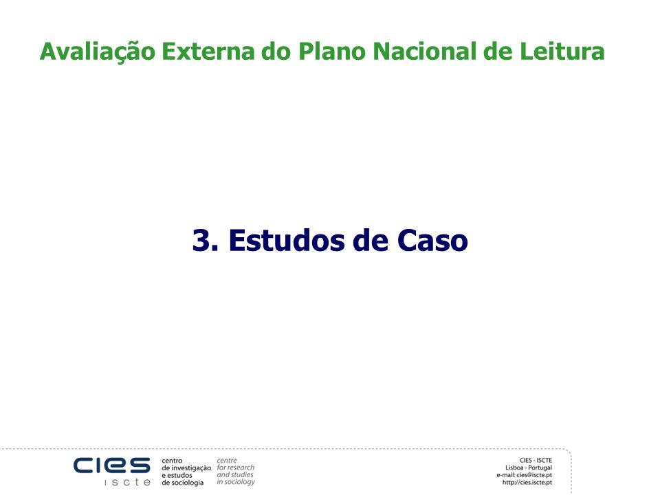 Avaliação Externa do Plano Nacional de Leitura 3. Estudos de Caso