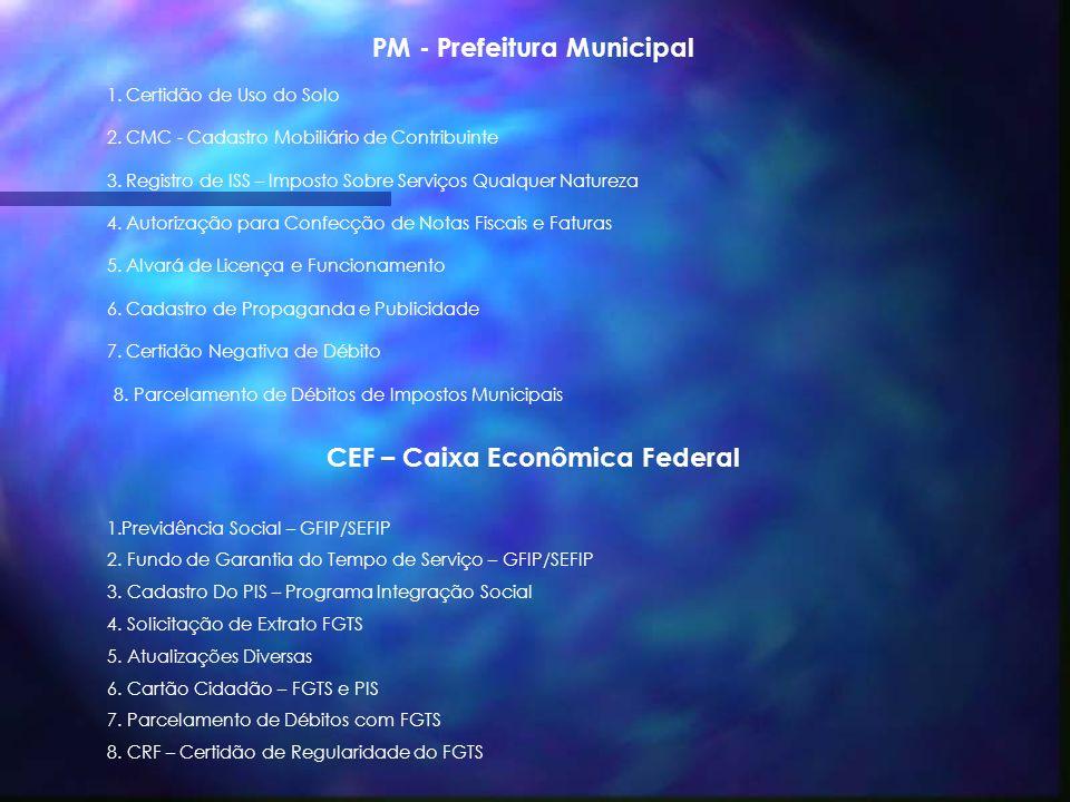 SFESP – Secretaria da Fazenda do Estado de São Paulo 1. Deca – Declaração Cadastral 2. Registro de Entrada de Mercadorias 3. Registro de Saída de Merc