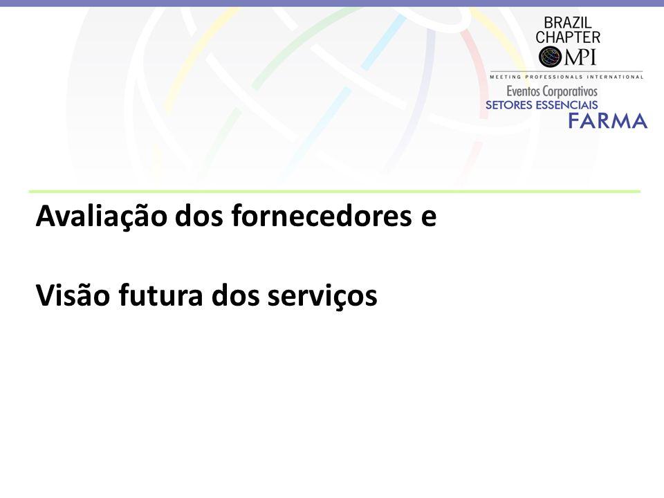 Avaliação dos fornecedores e Visão futura dos serviços