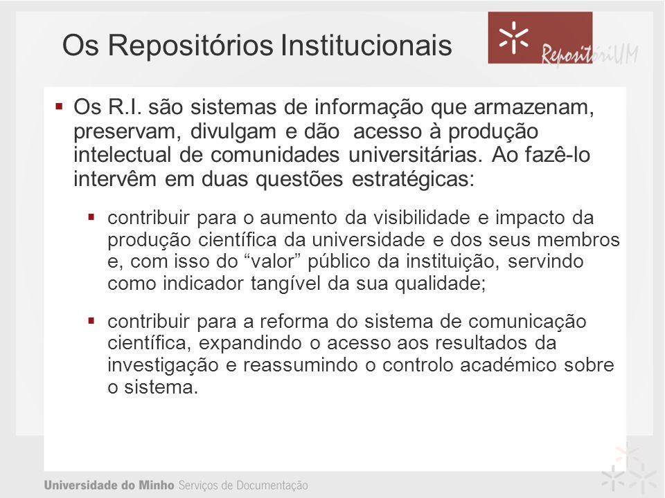 Os Repositórios Institucionais Os R.I.